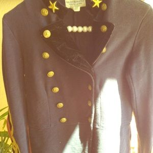 Vintage Navy Cotton Sergeants Jacket Ralph Lauren